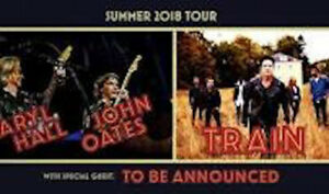 DARYL HALL/JOHN OATES/TRAIN 13 JUILLET CENTRE BELL COST PRICE !!