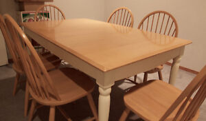 """***ETHAN ALLEN """"AMERICAN DIMENSIONS"""" SOLID MAPLE DINING SET***"""