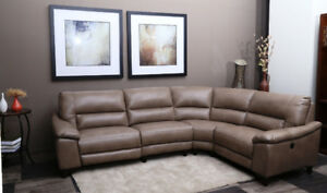 LEATHER LOOK FABRIC SOFA ON SALE , NO TAX