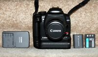 Canon EOS Rebel DSLR Camera With 2 X Battery Grip & Lens.