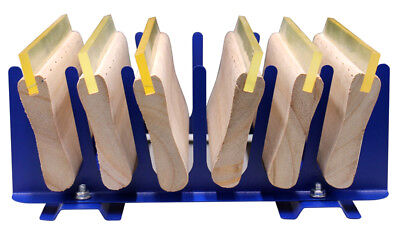 Free Shipping 6 Pcs Screen Printing Squeegee Storage Rack Ink Scraper Organize