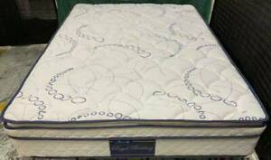 Excellent white Pillow Top queen mattress for sale. Pick up or deliver