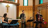 Baptism musicians jazz classical piano violin saxophone Montreal