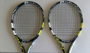 Two Babolat Aeropro Drive Tennis Racquets