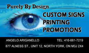 up to 50% off all signs and print FALL PROMO