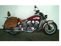 ICONIC INDIAN MOTORCYCLE SCOUT 1133 SIDE SADDLES GREAT CRUISER 2016