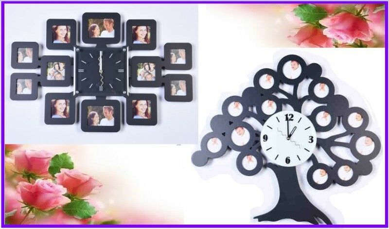 Gift Ideas Designer Wall Clock Photo Frame Tress Style