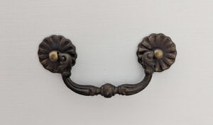 16 Antique drawer pulls with hardware
