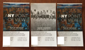 3 passes to the 'Top of the Rock'efeller Center