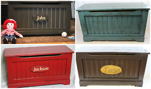 Handmade Solid Wood Engraved Toy Chests- SHOP LOCAL THIS YEAR London Ontario image 3