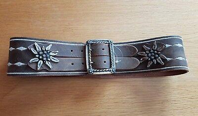 Trachtengürtel aus Leder für Männer (neu) - 80 - Tracht Für Männer