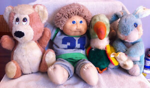 Vintage Cabbage Patch Doll & stuffed toys