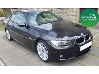 ONLY £173.85 PER MONTH BLACK 2008 BMW 320 2.0 M SPORT COUPE PETROL MANUAL