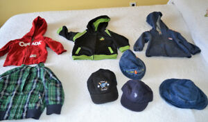 Size 12 months, Spring / Summer jackets and hats