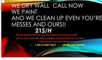 Hard in the paint cleaning painting and drywall