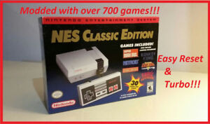 NES Classic Edition Pro Modded! 700 Games! Easy Reset and Turbo!
