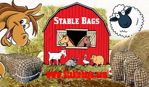 Slow feed hay net bags for horses and all livestock feeding