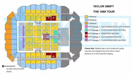 Taylor Swift Tickets Melbourne - VIP Package 2 sold out Carlton Melbourne City Preview