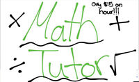 Math tutor for jk-grade 8 for only $15 an hour!!!