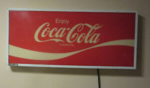 Coke Sign With Florescent Light