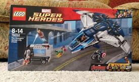 Lego Superheroes Quinjet City Chase New