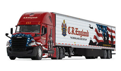 FIRST GEAR FREIGHTLINER ENGLAND REEFER TRAILER HONORED VETERANS 1/64 60-0541 DCP