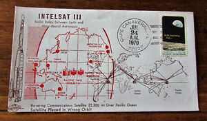 1970 INTELSAT III 6 Cent Space First Day Cover Kitchener / Waterloo Kitchener Area image 1