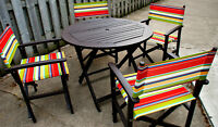 Patio furniture to be sold this Friday to the first person here!
