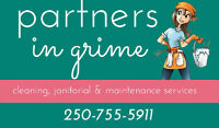Partners in Grime Cleaning, Janitorial and Maintenance Services