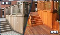 Fence deck siding cleaning