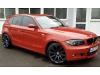 BMW 1 SERIES 120D (red) 2007