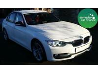 £319.89 PER MONTH WHITE 2012 BMW 320D 2.0 SPORT SALOON DIESEL AUTOMATIC