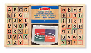 NEW: Melissa & Doug Wooden Alphabet Stamp Set