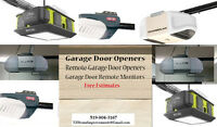 Garage Door Openers - Single and Double Door Garage  All Brands