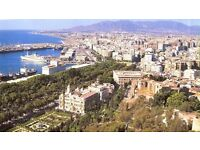 Costa del Sol, Spain, Erasmus students Malaga University area, beach, sun, spanish