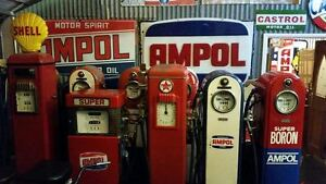 Wanted to buy Petrol pumps Bowsers, Enamel signs pedal cars Sydney Region Preview
