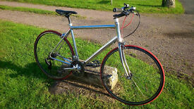 custom built hybrid bicycle based on a b twin road racer