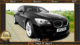 BMW 730d M Sport automat. 241 KM 3.0 dies Od £79 tygodniowo bez depozytu z gwarancja