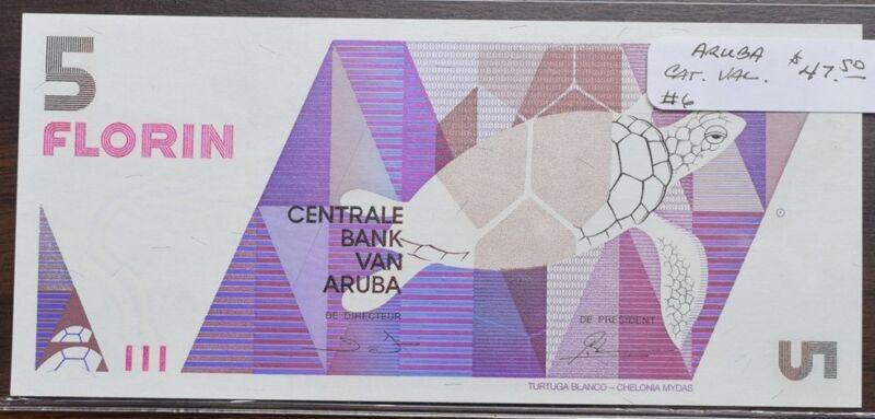 Aruba $5 Note - UNC - CAT $47.50