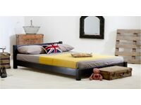 Low Oriental Wooden Bed Frame (Black - Super King Size) - by Get Laid Beds