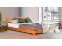 "Double Wooden bed frame ""space saver"""