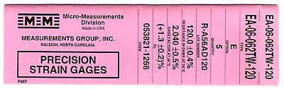 Vishay Micro Measurements Strain Gages Gauges Ea-06-062tw-120 Option E