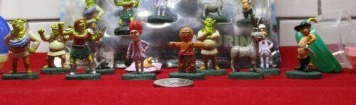 """RARE Dreamworks Shrek Forever After Figurines Toy Vending 2"""" Capsules Full Set"""