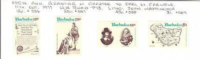 Barbados 1977 Charter of Carlisle set MH