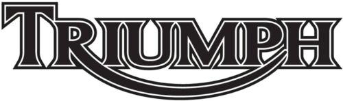 2X 20cm TRIUMPH Logo Vinyl Decal Sticker Choose Color Tank Fairing Bar Car Etc
