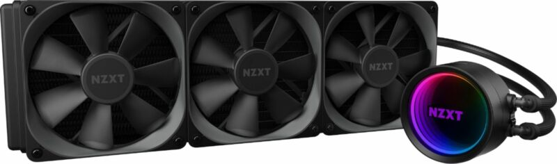NZXT - Kraken X73 RGB All-in-one 360mm Radiator CPU Liquid Cooling System - B...