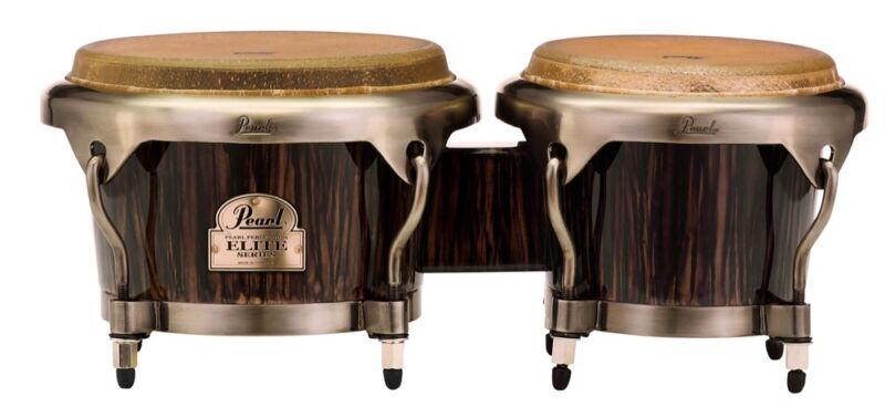 Pearl Elite Series Wood-Fiber Bongos - Dark Chocolate