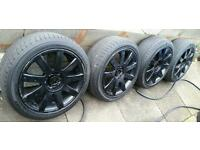 "Replica 17"" Audi S Line Black RS4 Alloys 5x112 5x100 A3 A4 TT VW Golf Polo Seat Leon VRS"