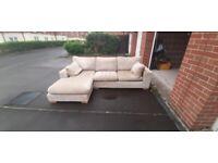 Beige Next Corner sofa and large 2 seat sofa