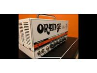 Orange dual terror guitar amp head with flight case
